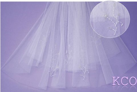 V0505 White Communion Veil
